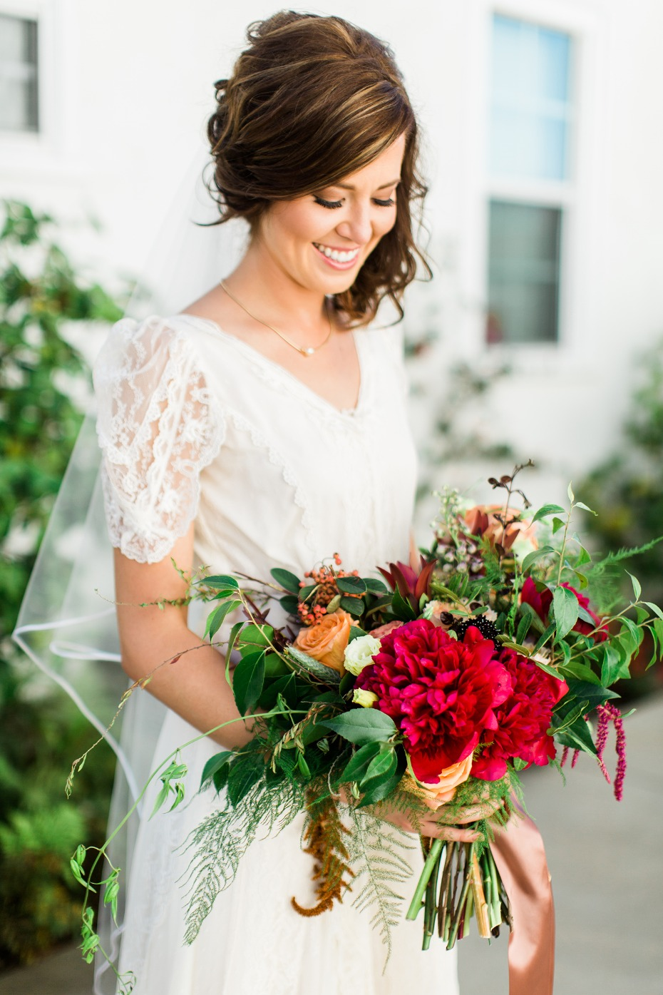classic bridal style with a few modern twists
