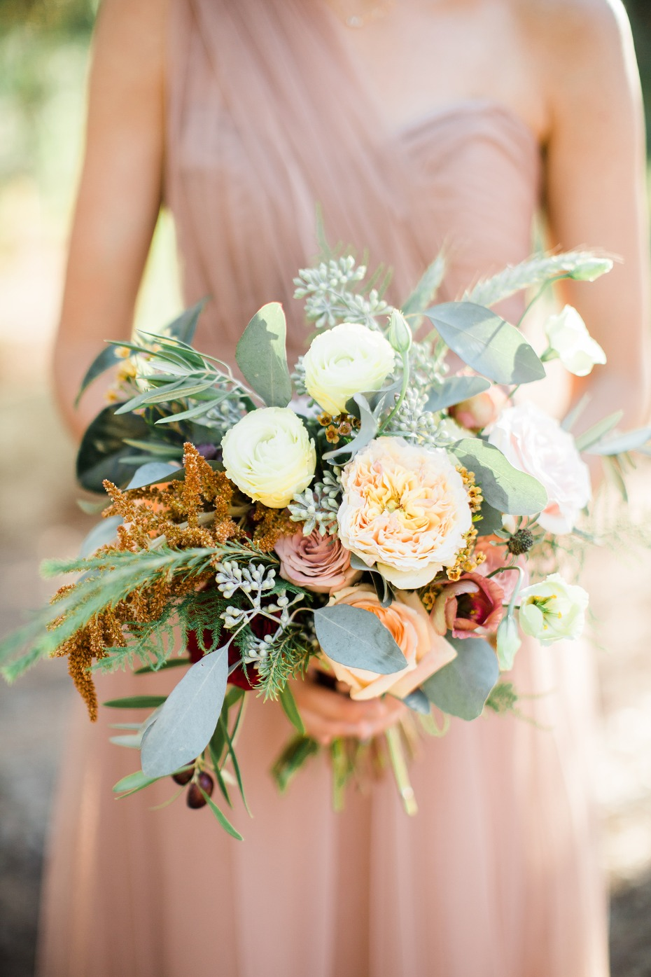 fun and textured wedding bouquet