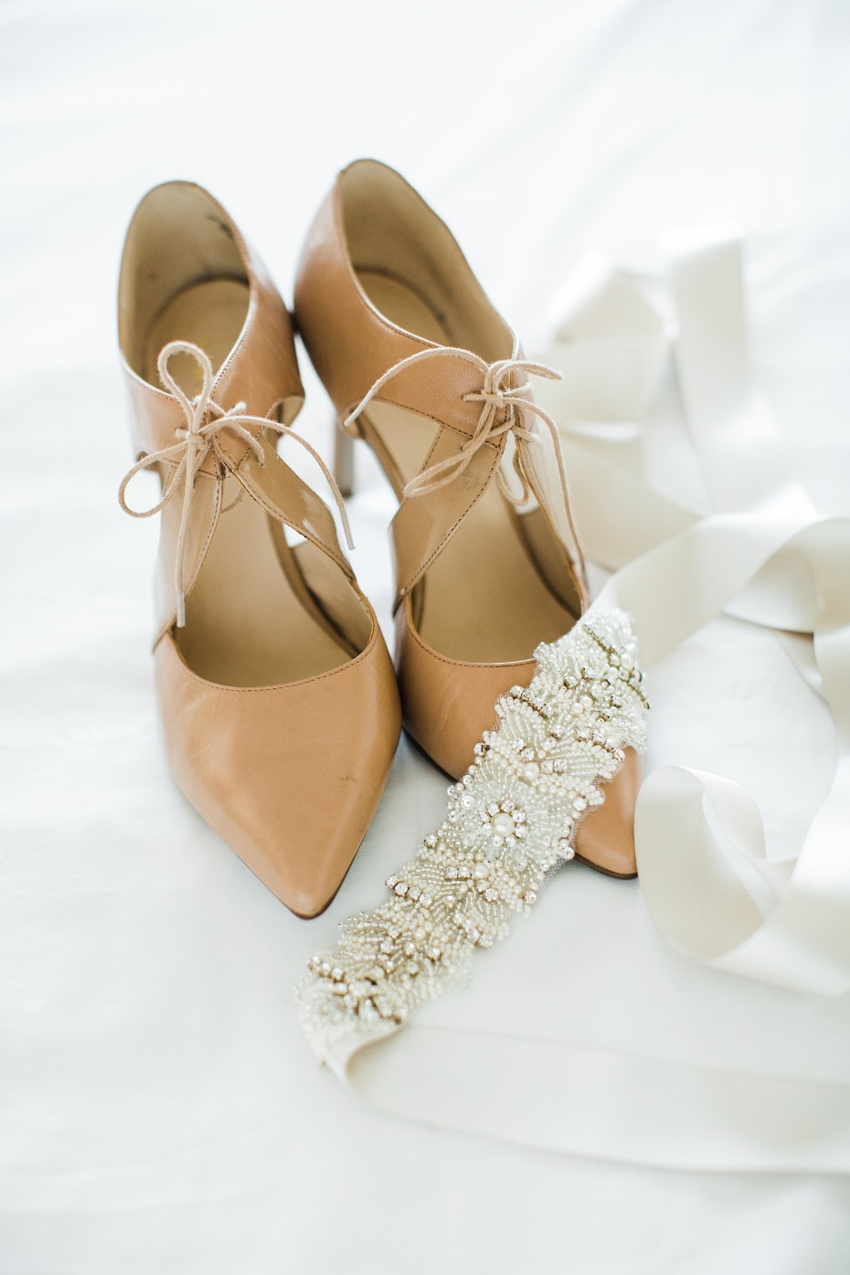 cute vintage style lace up wedding heels
