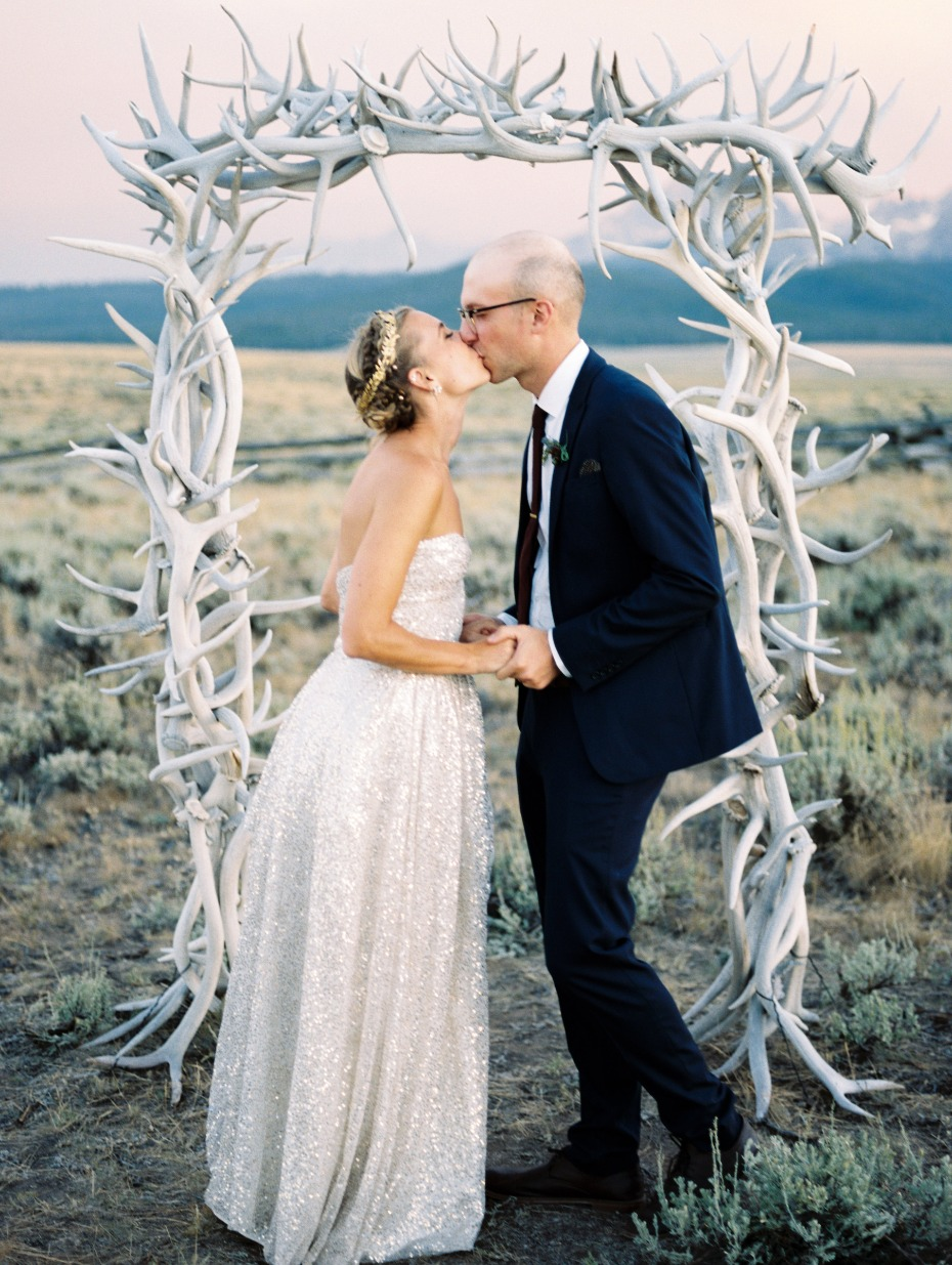 antler wedding arch