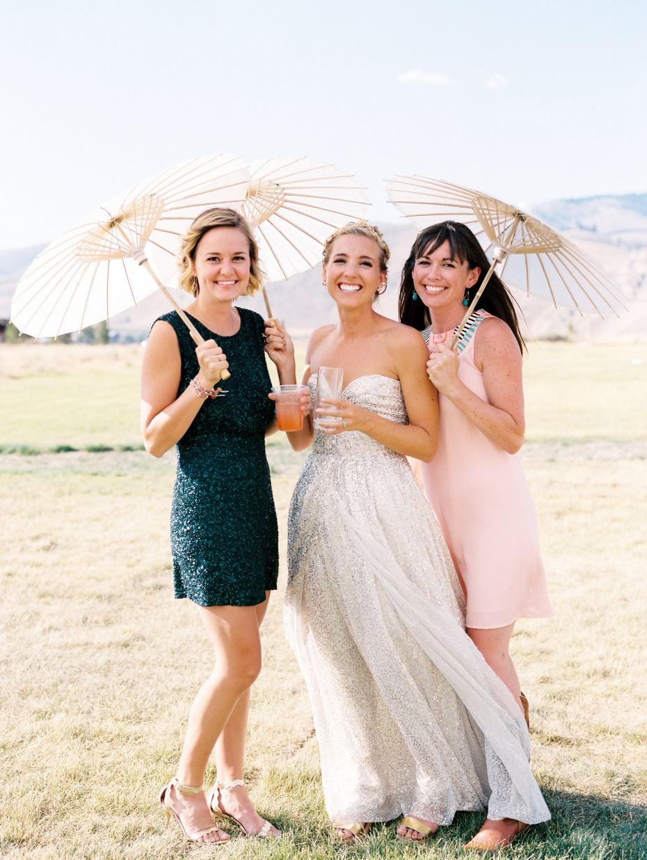 summer time wedding parasols
