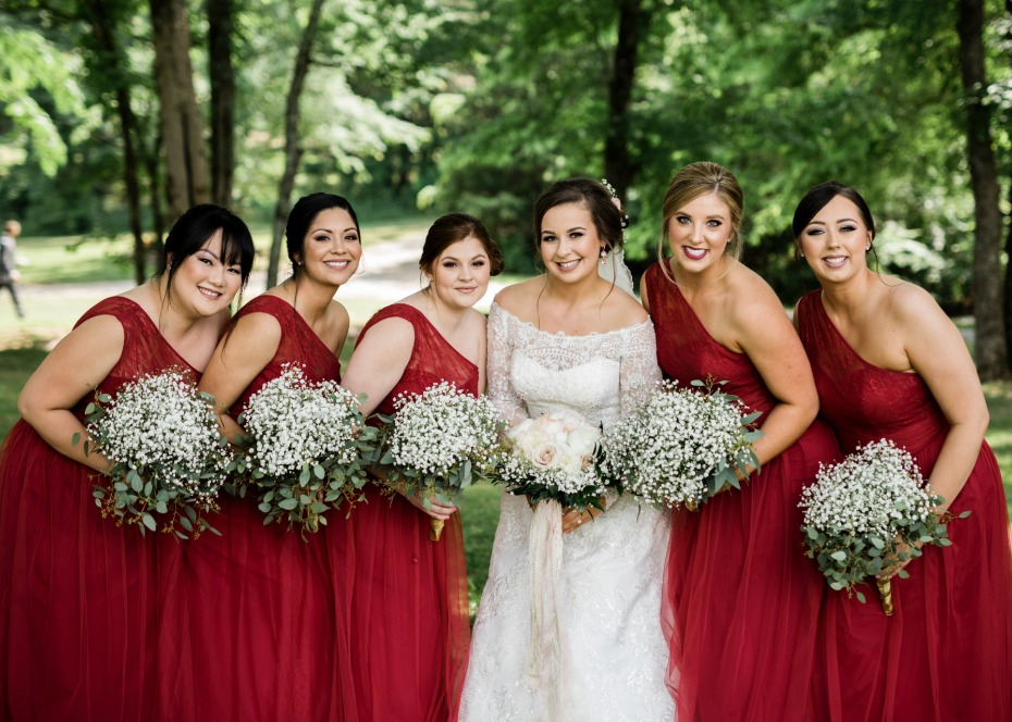 Add a pop of red with KF Bridal