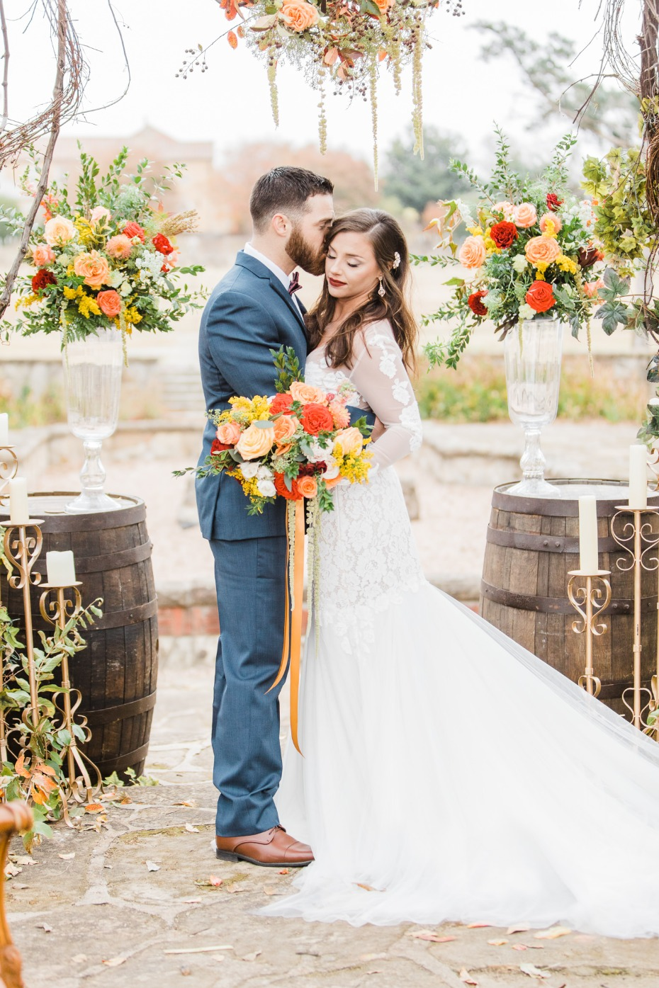 Fall wedding with an Italian twist