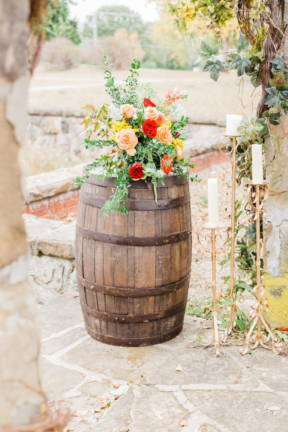rustic winery fall wedding ideas