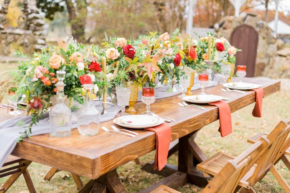 fall inspired wedding table decor