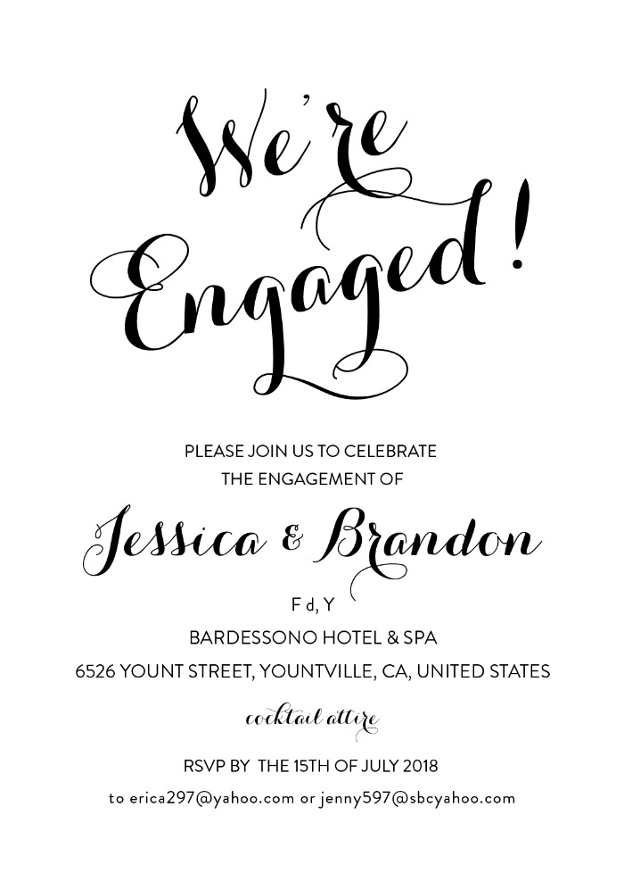 Print: Free Engagement Party Printable