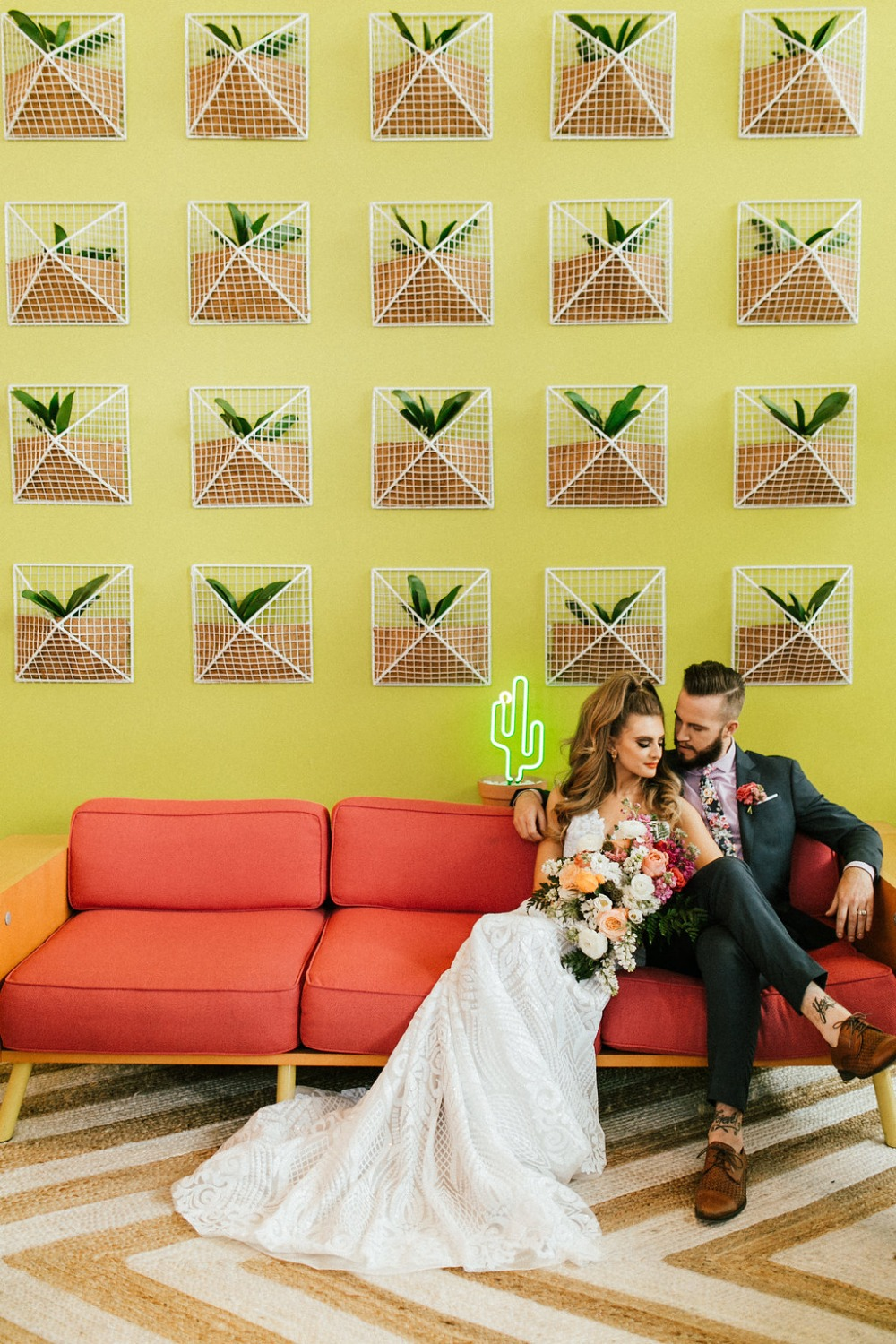You'll Be Walkin On Sunshine With This Cactus Themed Wedding