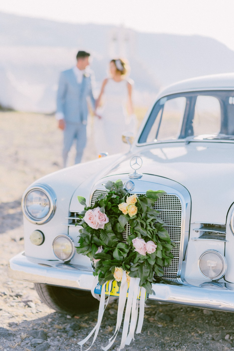 sweet vintage wedding ride