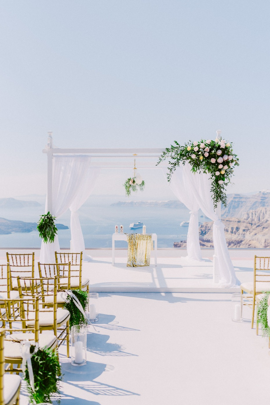 scenic wedding ceremony in Greece