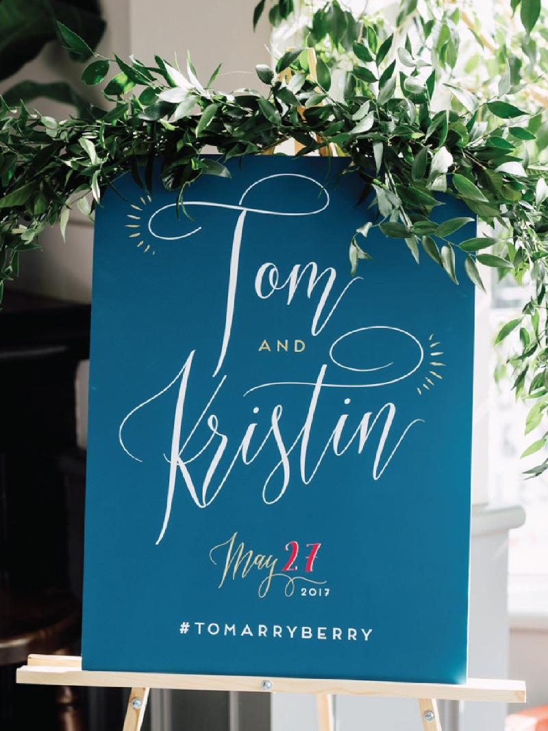Custom wedding welcome sign created by Miss Design Berry. Ready to make your design dreams come true? Let's chat about your wedding
