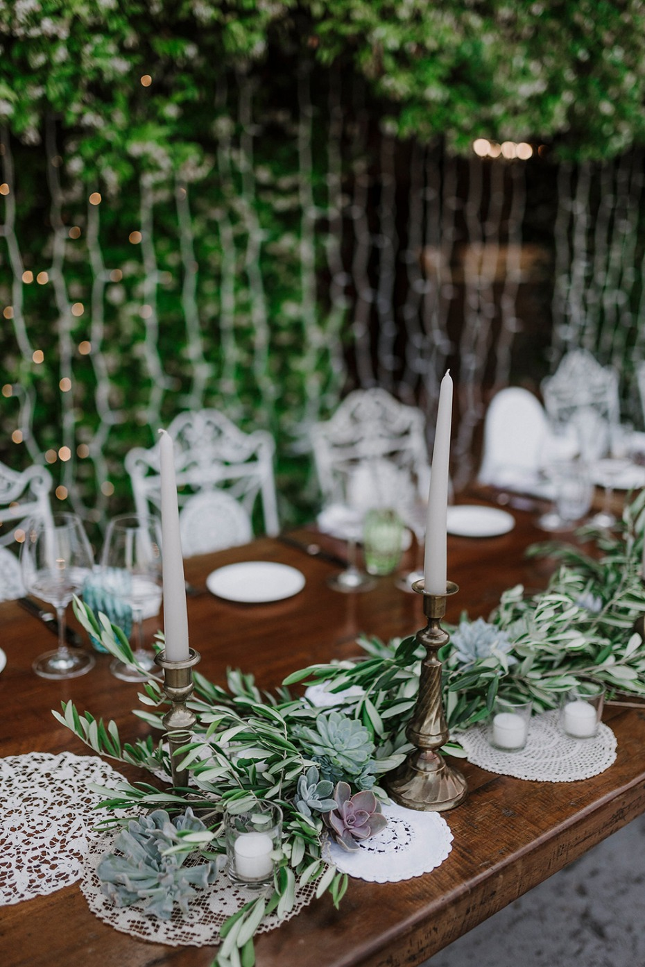 succulent and greenery garland