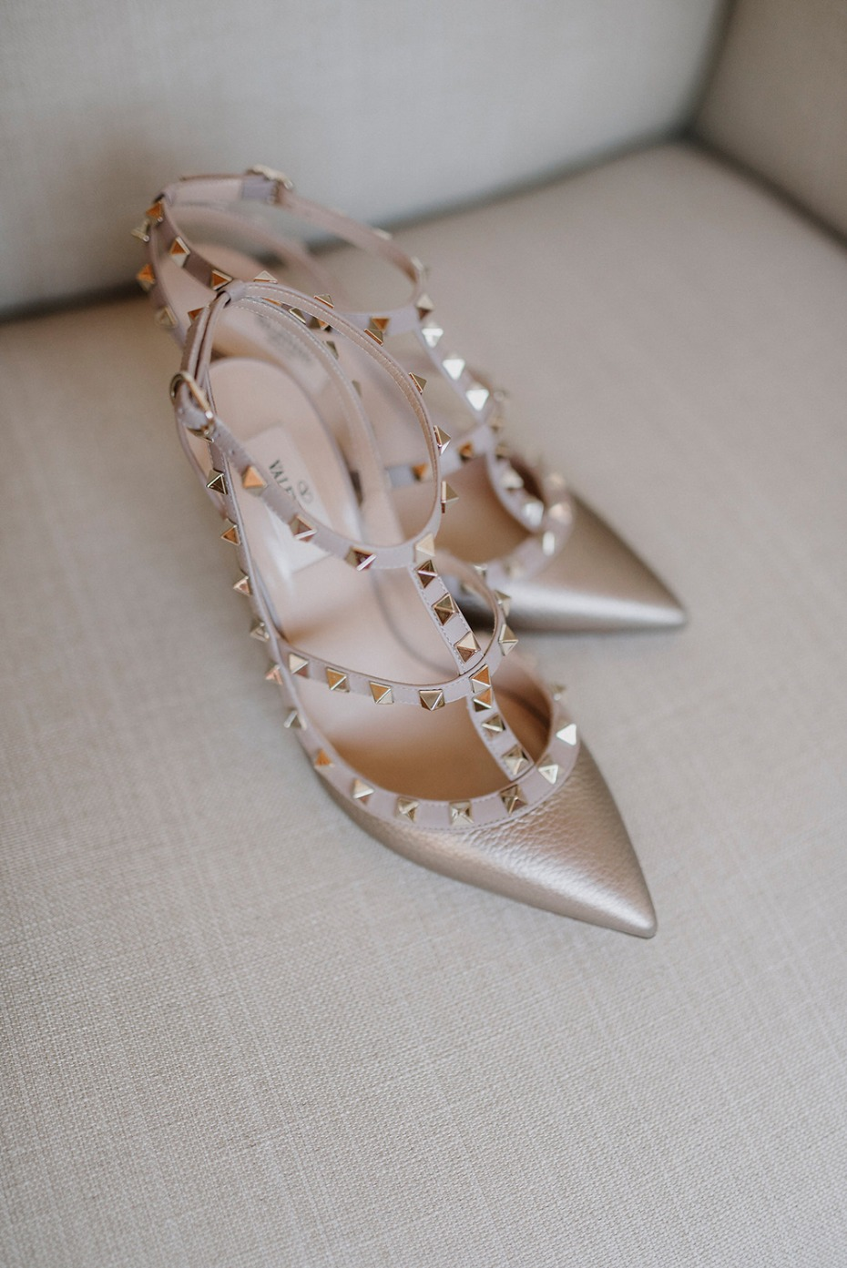 studded wedding shoes for the bride