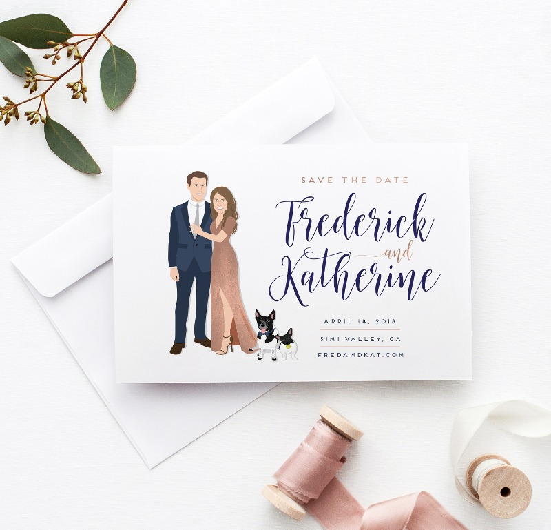 When the whole #squad makes it into the Save the Date :) Shop the MOST unique and customized save the dates, only from Miss Design