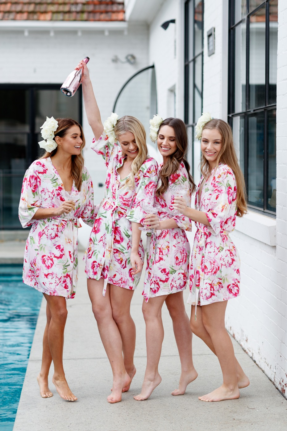 Peony Blosson robe from Le Rose