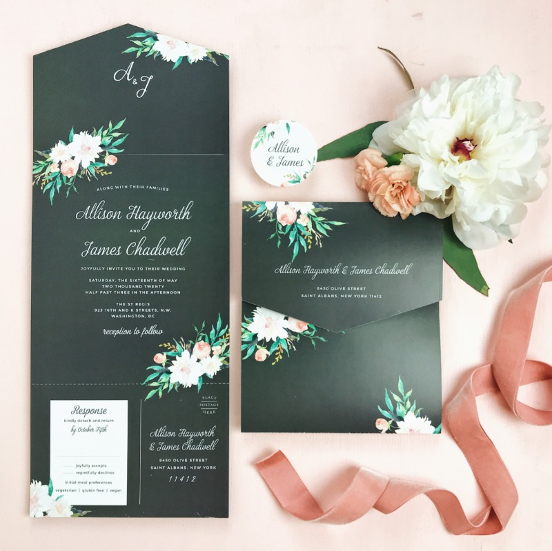 Shop all of our new designs like this Blossoming Love Seal & Send Wedding Invitation from our new line! Customize it any way you