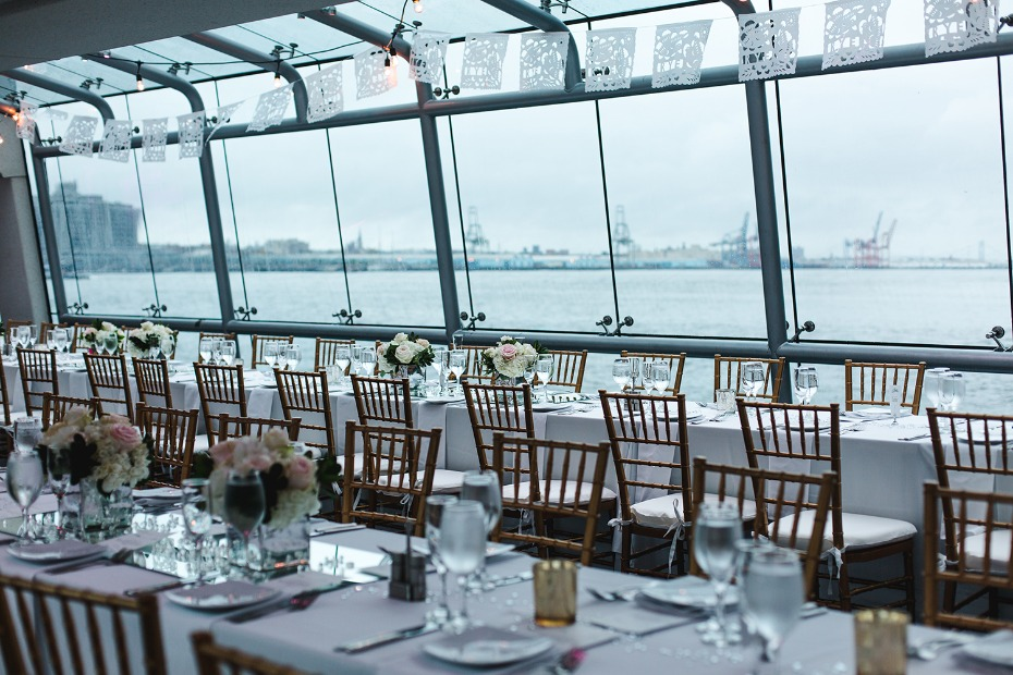 Thats right you and your guests can cruise around New York Harbor on your wedding day