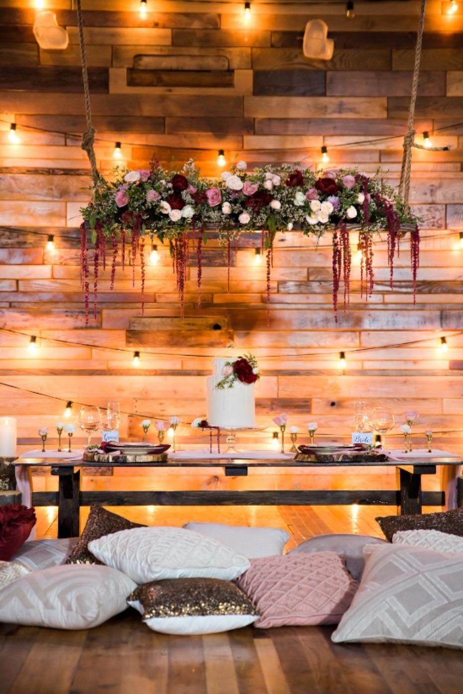 twinkling cake table