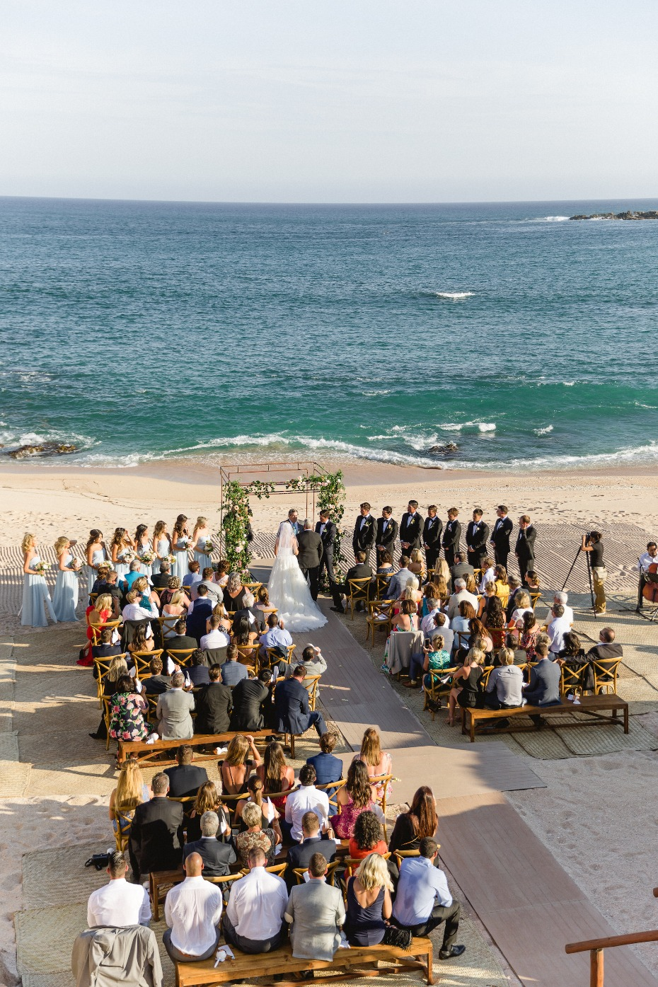 Gorgeous ocean front wedding in Mexico