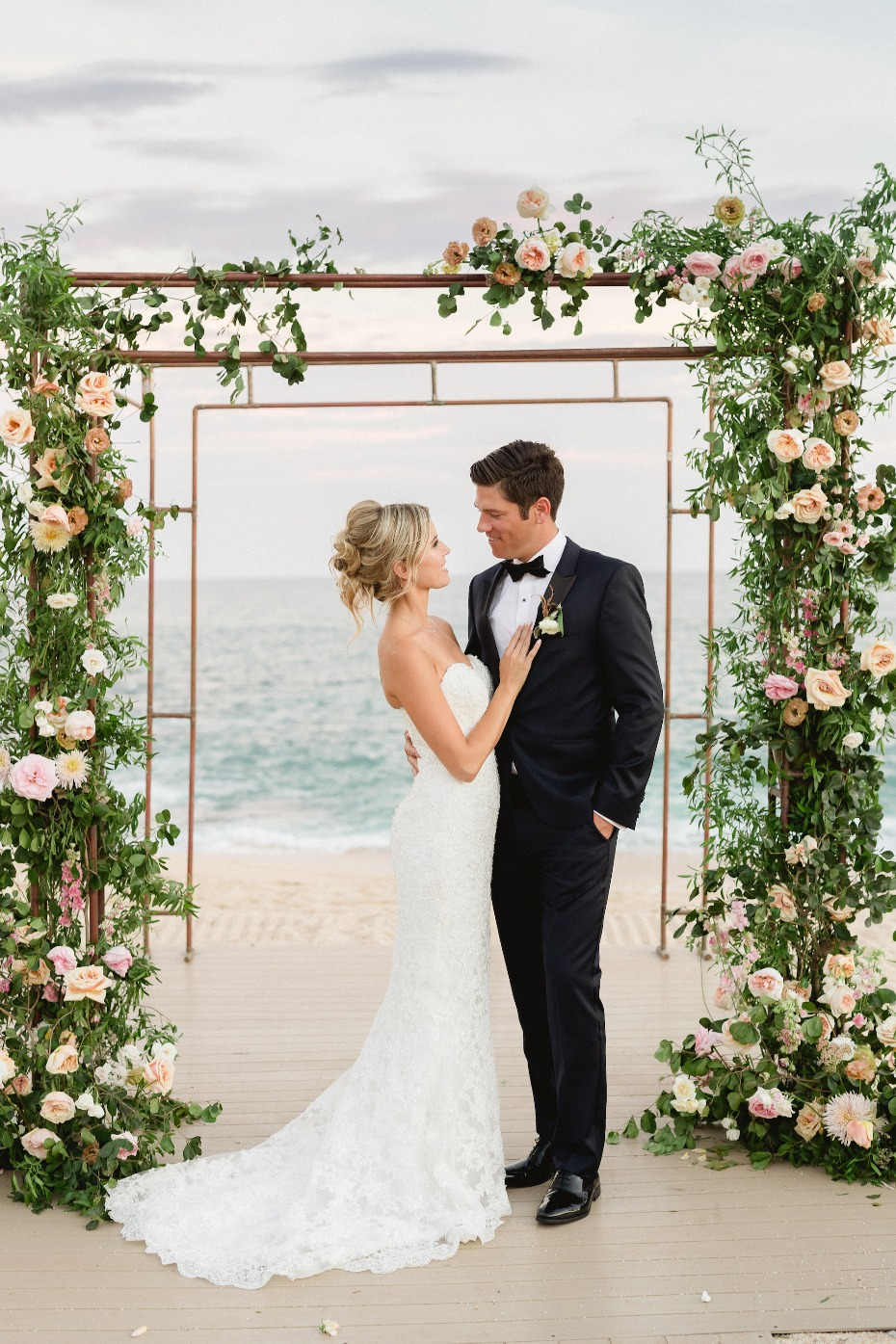 Floral arch on the beach