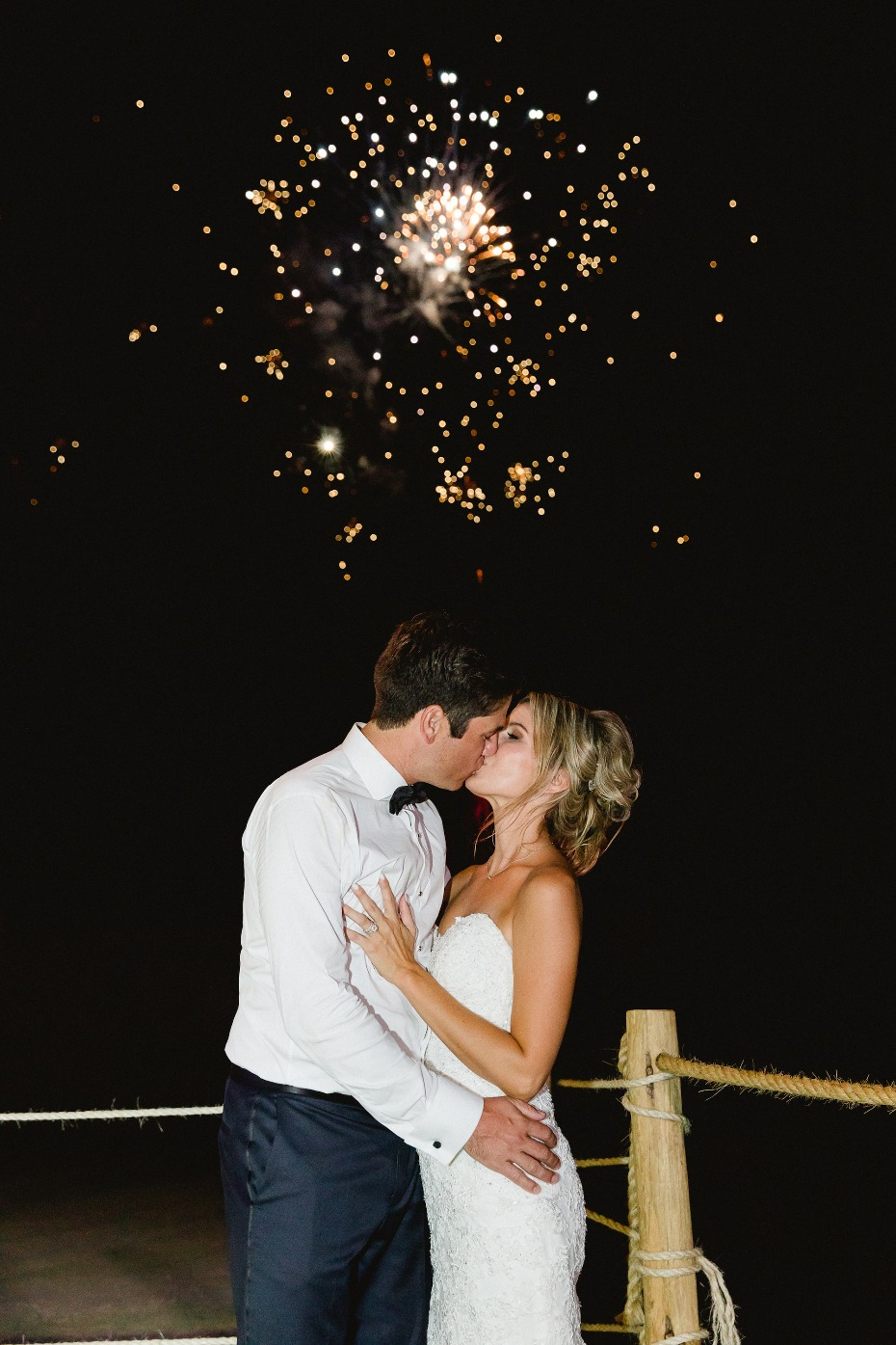 Fireworks for the newlyweds