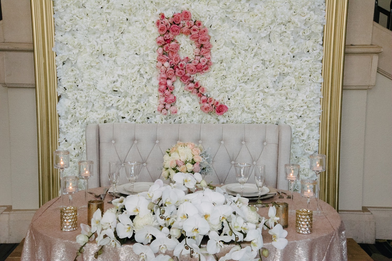 floral wall for your elegant ballet inspired wedding reception