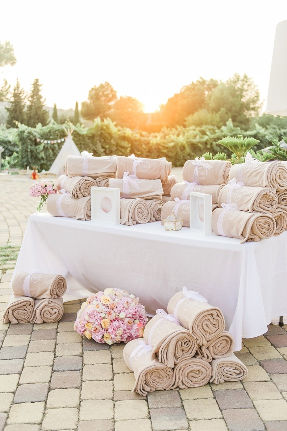 wedding favor blankets