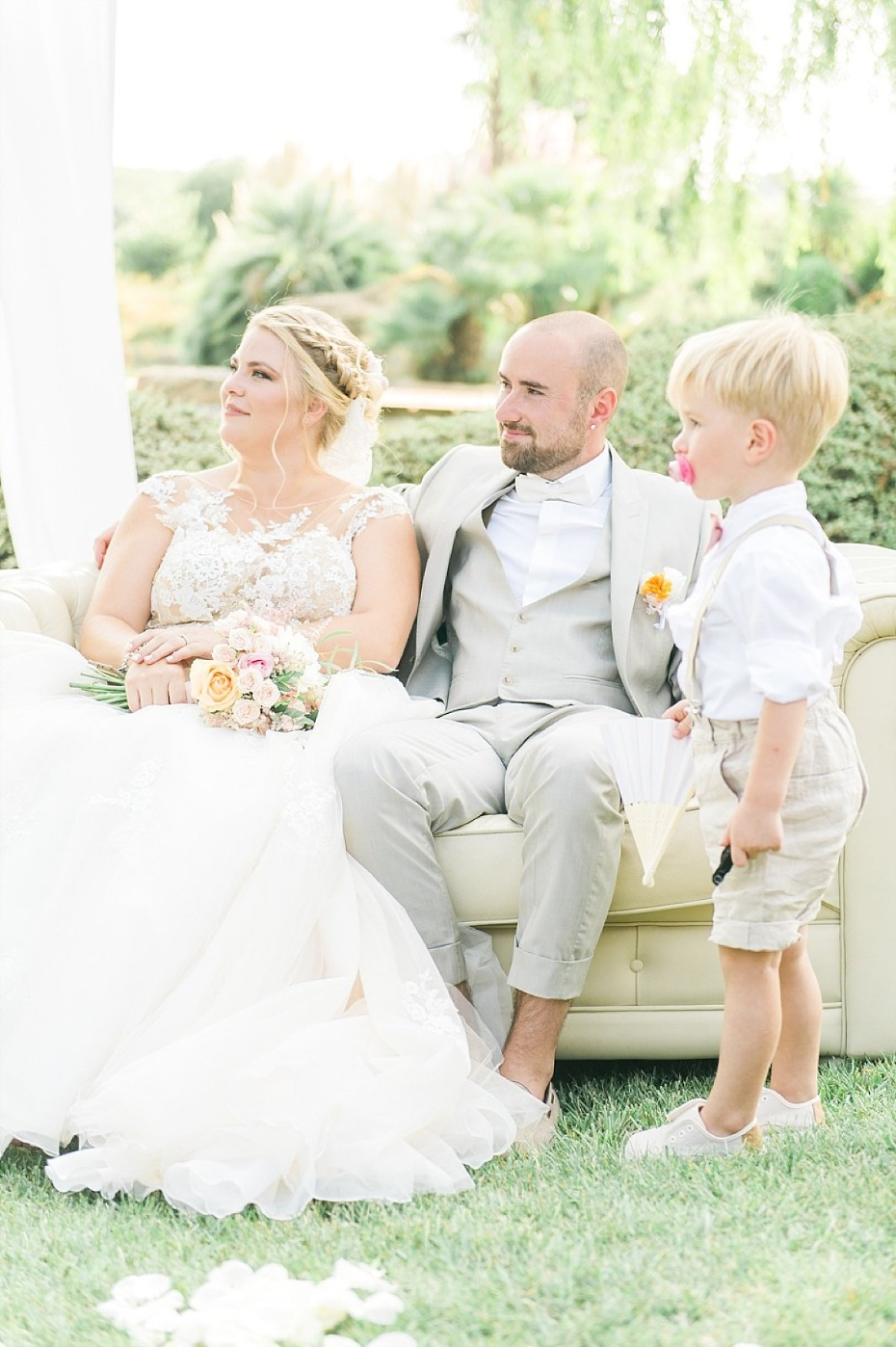 sweet little wedding family