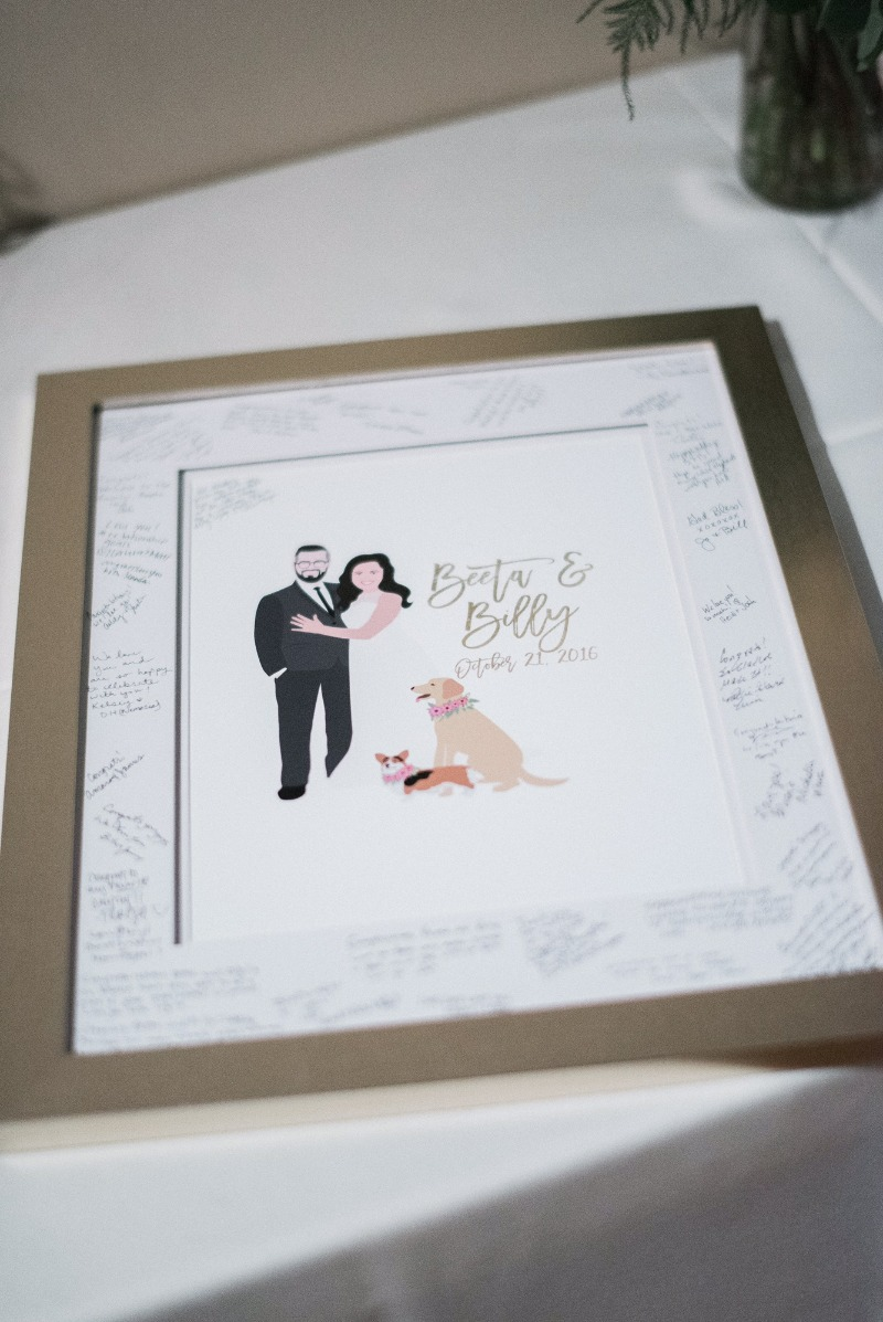 Awesome guest book alternatives that are made for YOU, and they look like YOU on your wedding day!