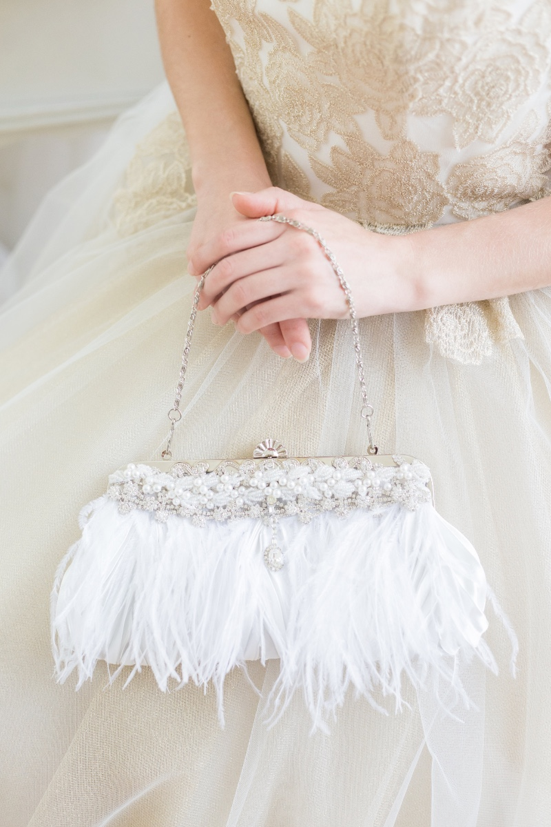 Bridal clutches that are designed for the chic glam bride.