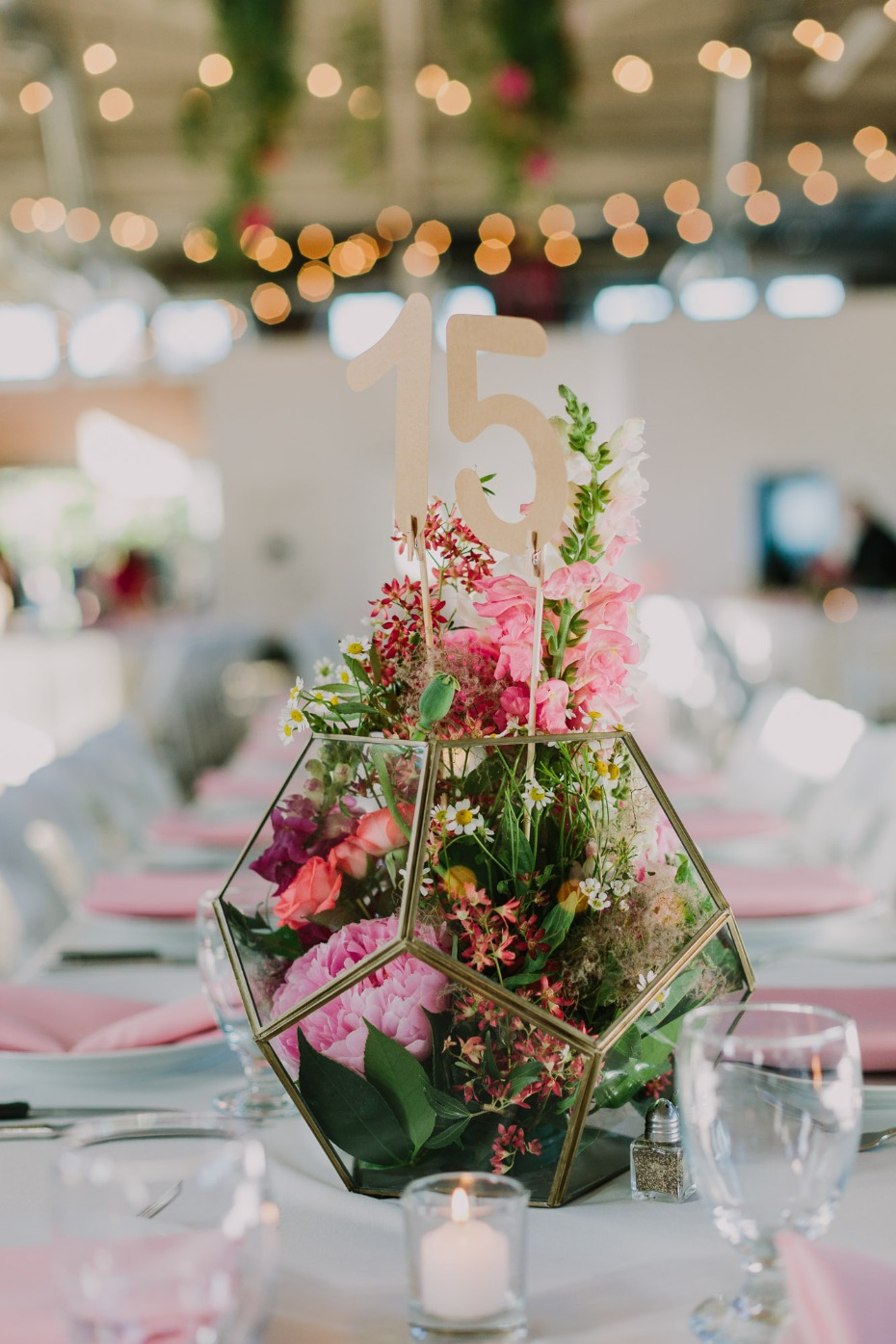 Geometric centerpiece idea