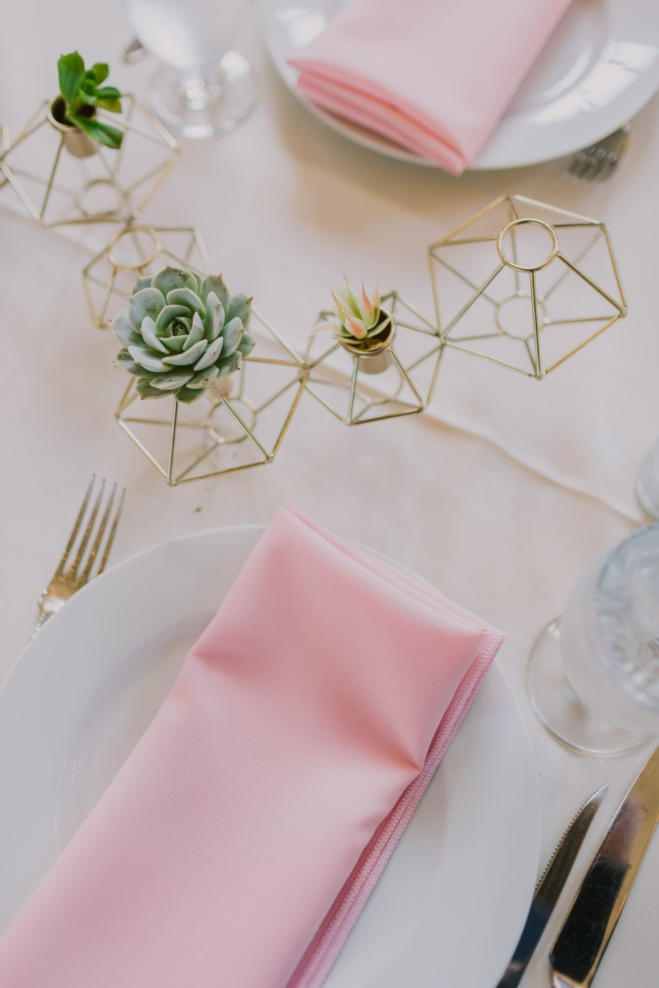 Table decor with succulents