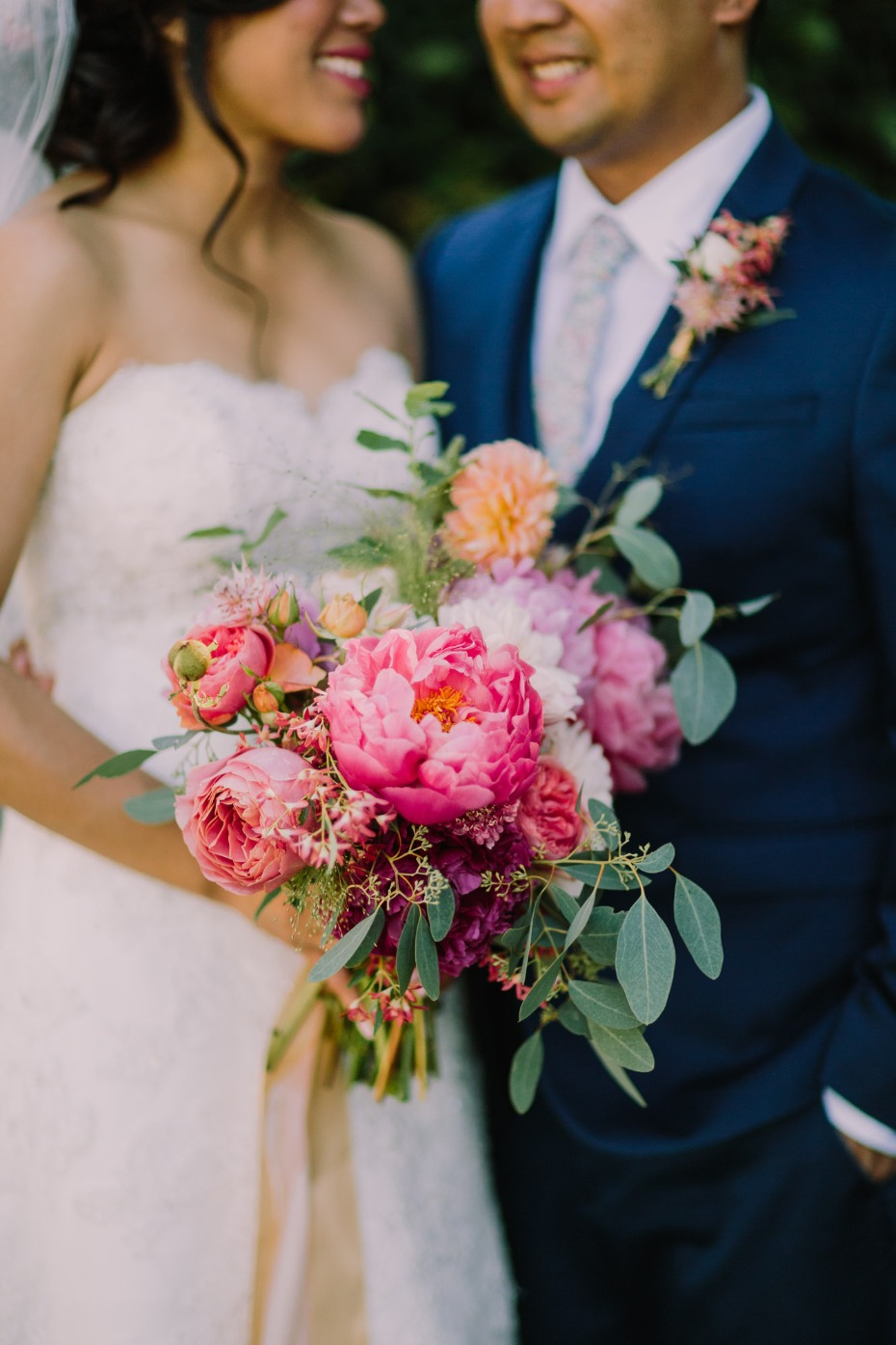 Colorful bouquet for the bride
