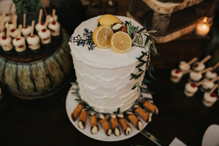 lemon topped wedding cake