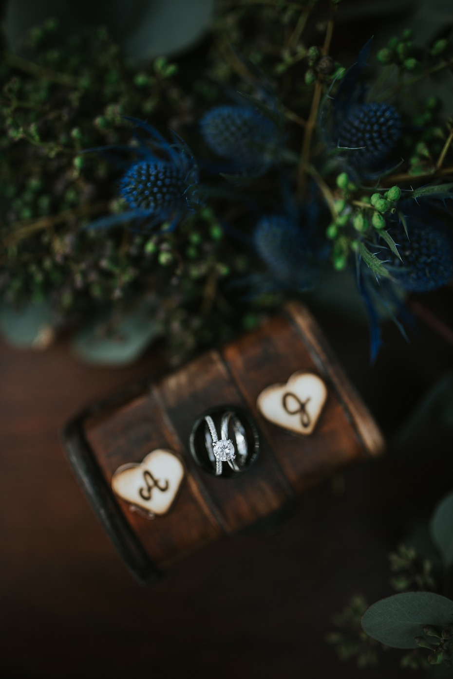 cute rustic wedding ring box
