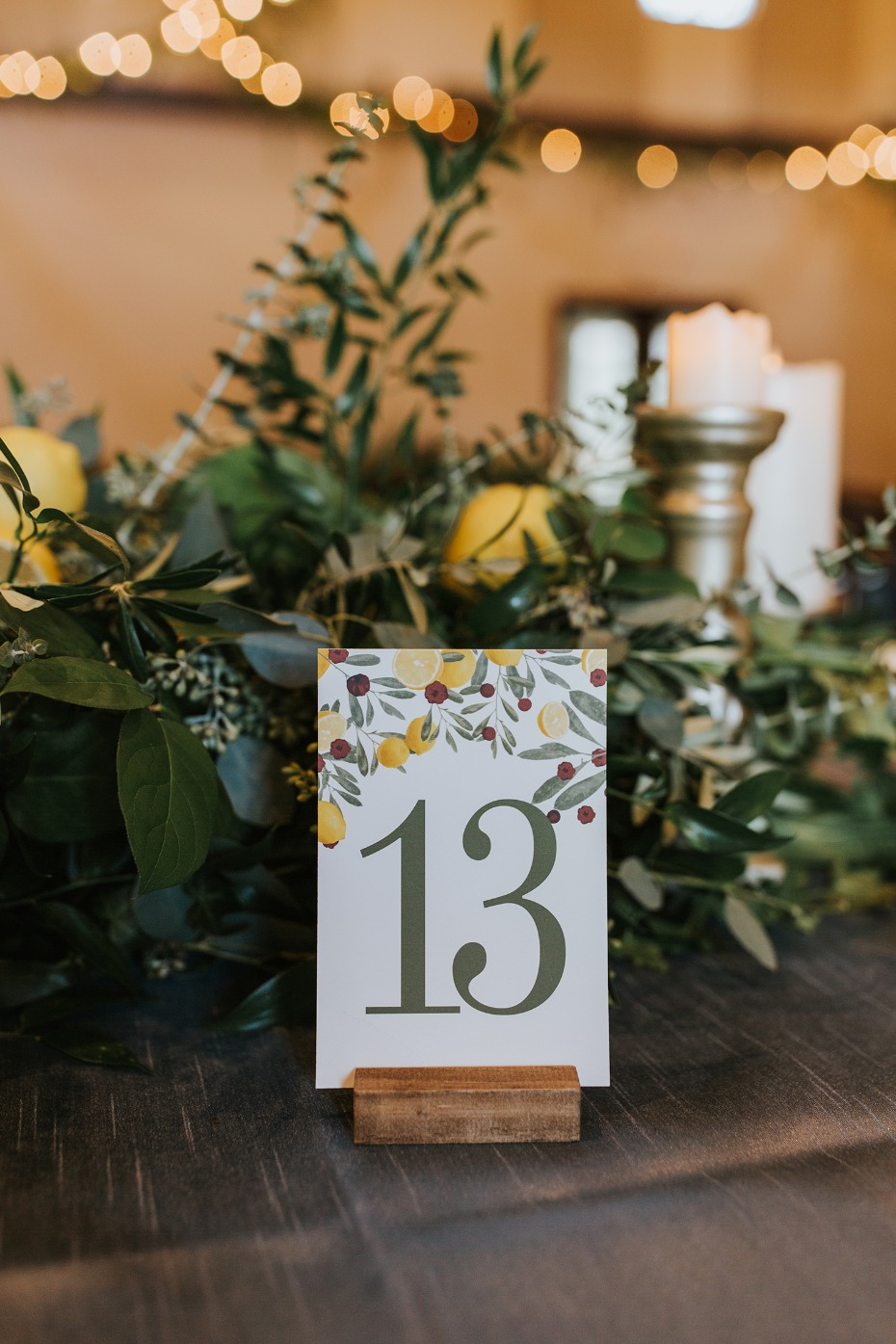 cute garden themed wedding table numbers