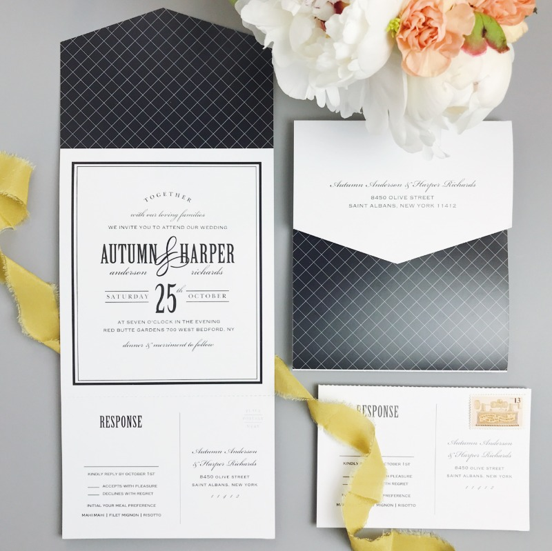 Elegance and intricacy all wrapped into one single wedding invitation! These all new Seal & Send invites are the ultimate package