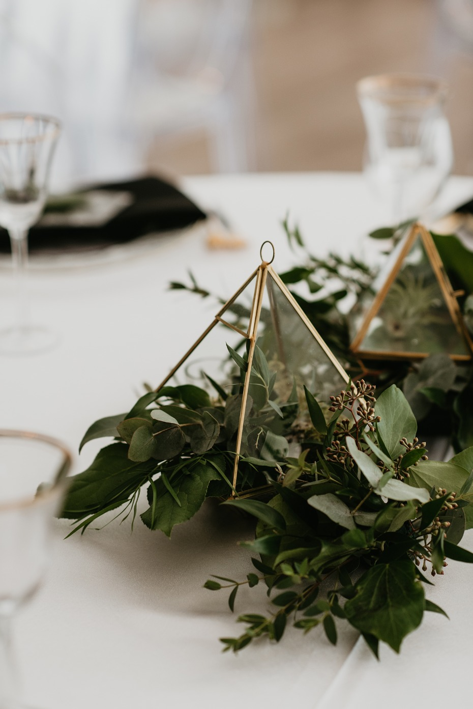 Mini geometric centerpiece