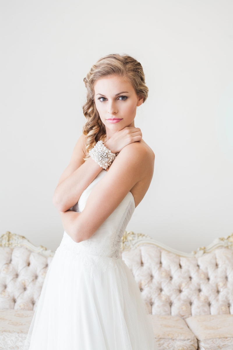 Make a statement with a gorgeous bridal and pearl cuff.