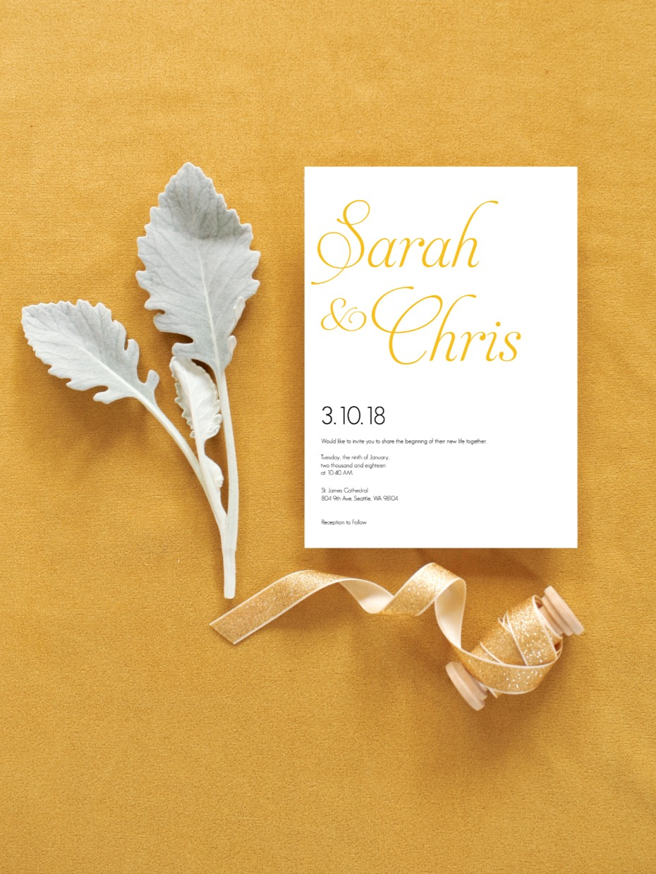 Fancy Font Free Wedding Printable