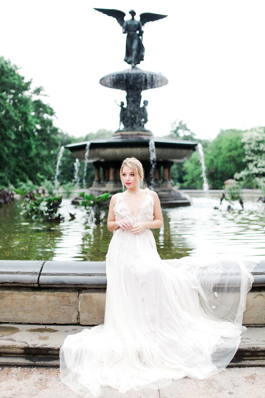 Flowing Samuelle Couture wedding dress