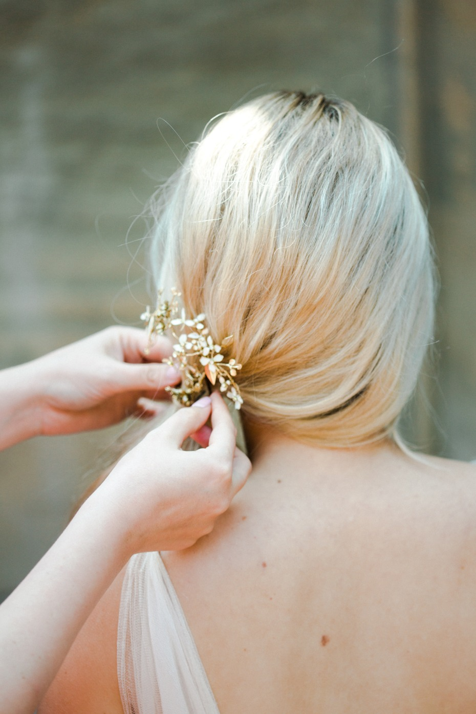 Side pony hair tutorial for the bride