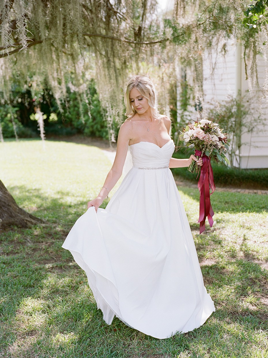 simple and sweet David's Bridal wedding dress
