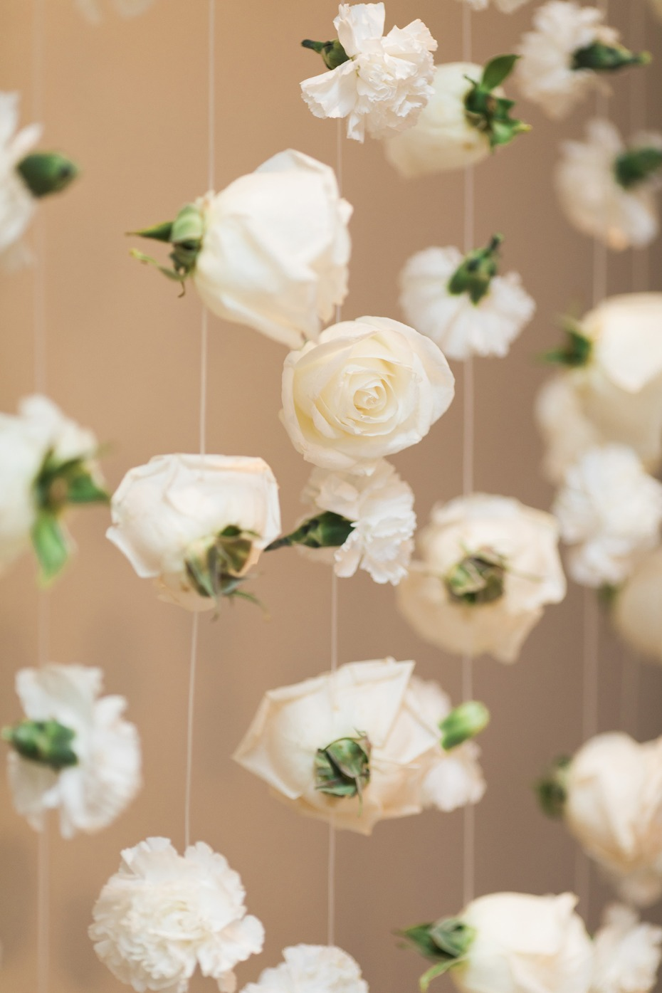 floating rose bud flower wall