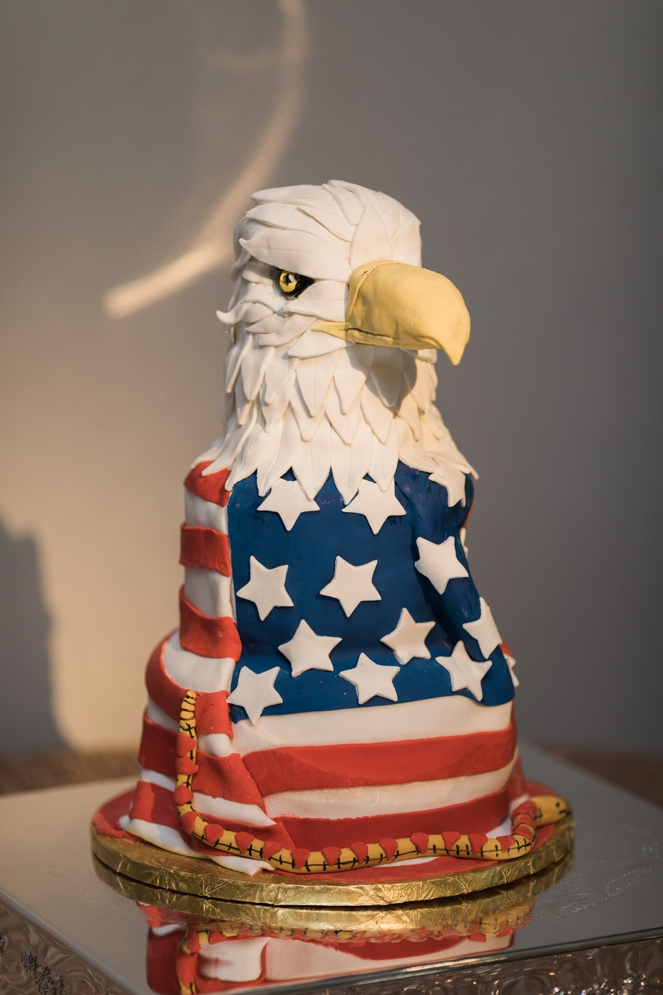 all American grooms cake