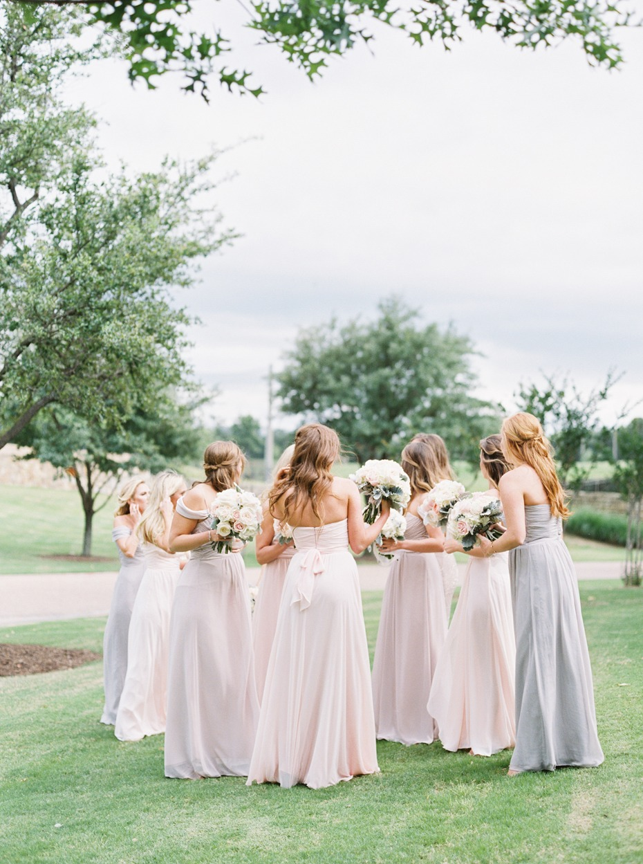 soft pastel bridesmaid dresses