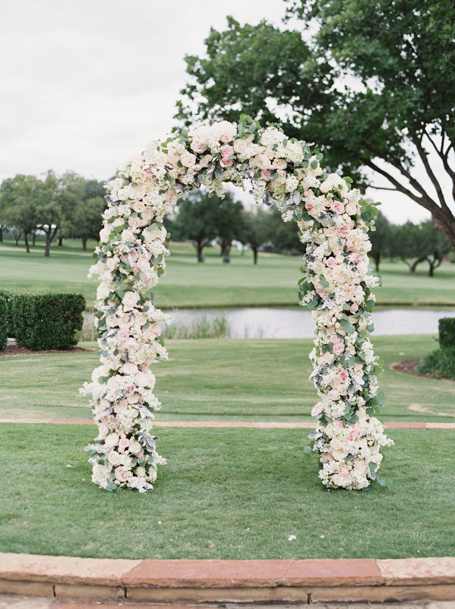 soft pastel floral wedding arch