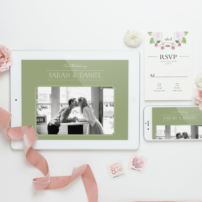 Mobile friendly wedding websites make it super simple and extra fun to share all your wedding deets instantly!