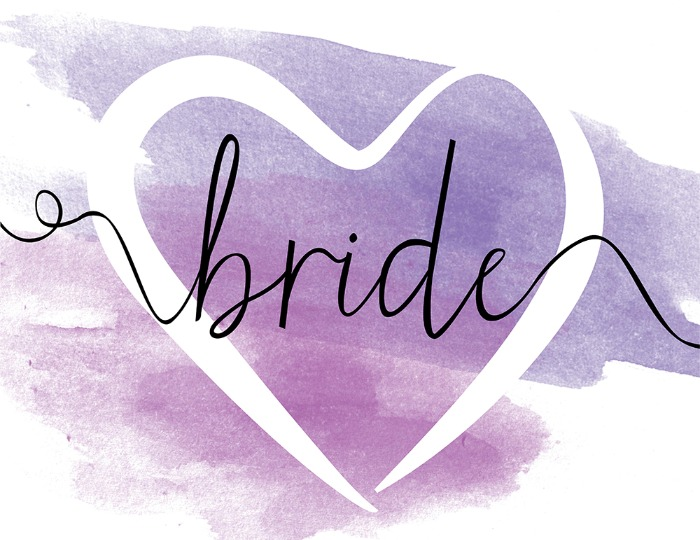 Print: Free Printable Watercolor Wedding Sign