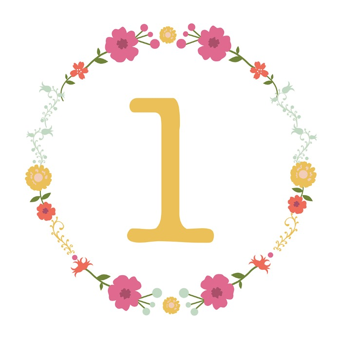 Print: Free Floral Printable Table Number