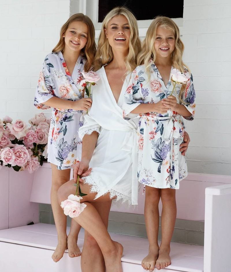 Match your gorgeous girls with the Keepsake Rose robe now available in adult and children sizes! Shipping worldwide💗LR xx